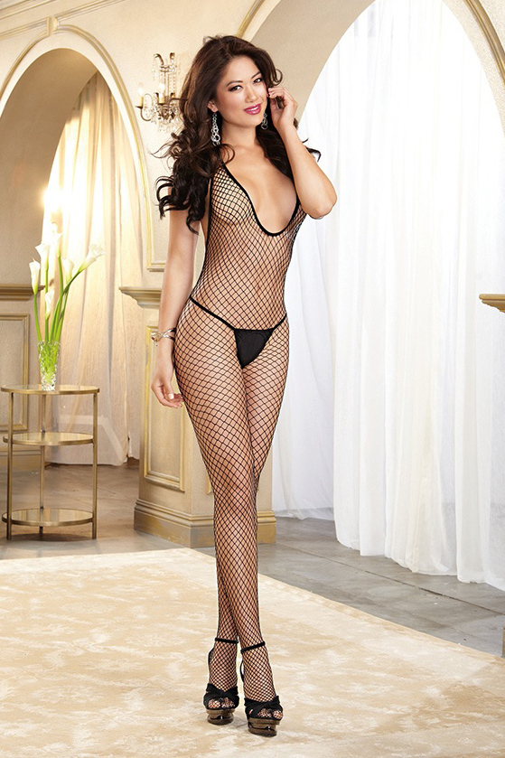 Dreamgirl Bodystocking DR0079 black 32-42
