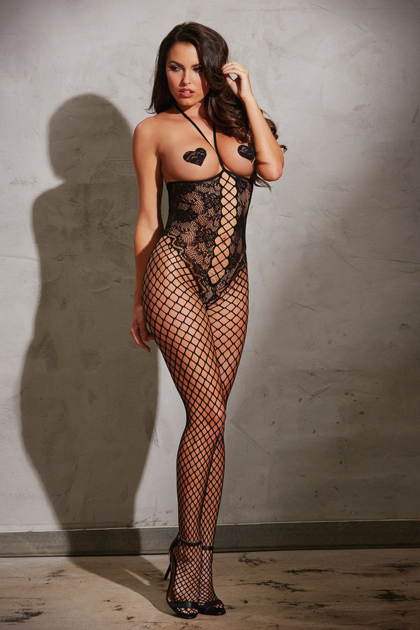 Dreamgirl Bodystocking DR0268 black 32-42