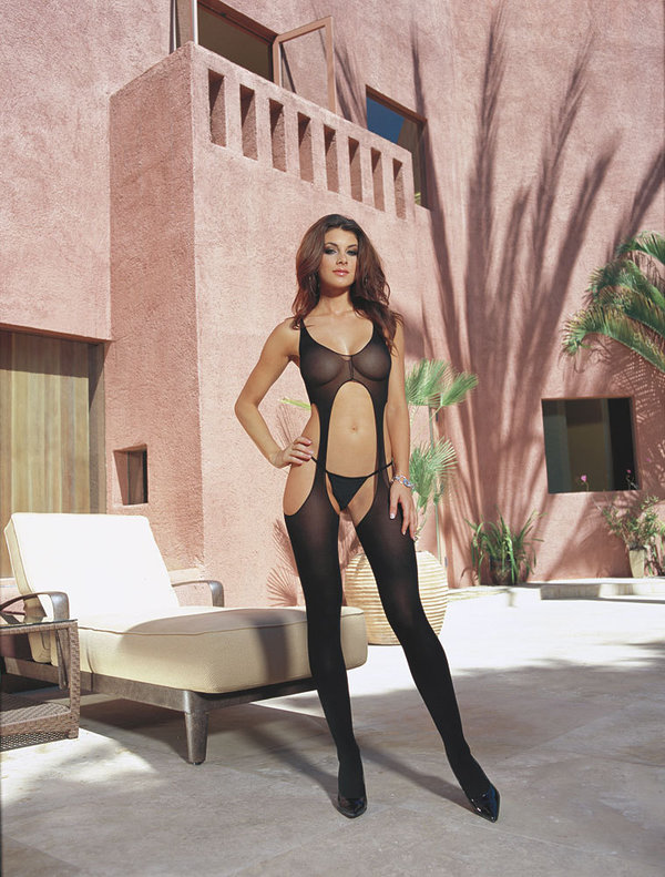 Dreamgirl Bodystocking DR0031 schwarz 32-42